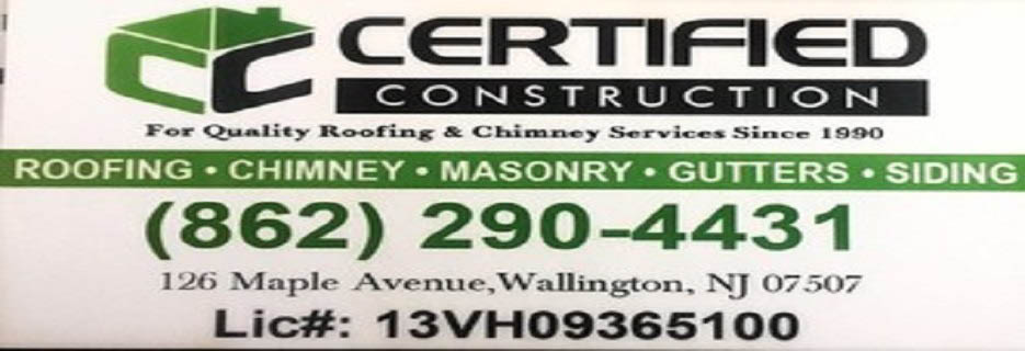 Certified Construction Wallington New Jersey 07057