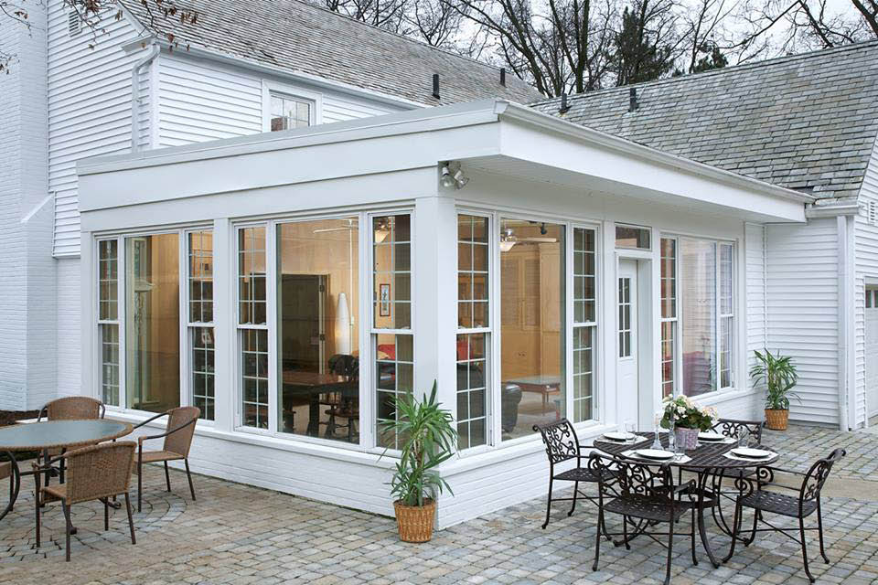 custom built sunroom