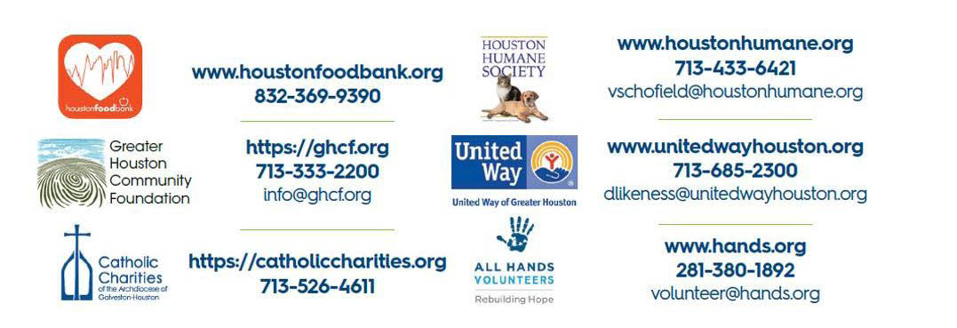 HoustonStrong, Donate to the Local Houston Relief Effort Banner ad