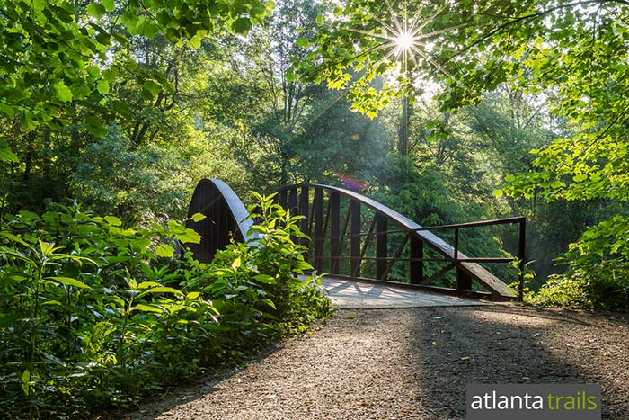 hiking trails in the Chattahoochee Park