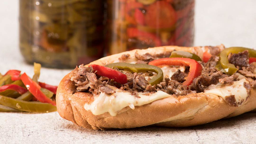 King of Philly Cheese Steak - 50% more meat & cheese