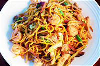 We have both Chinese Shrimp Chow Mein or Shrimp Lo Mein - you decide