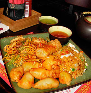 Traditional Chinese menu items at our gourmet restaurants