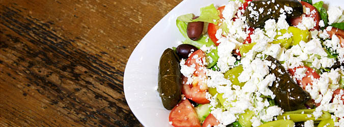 Greek salad and other Mediterranean food, Lower East Side