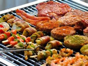 Freshly grilled meats, seafood and veggies