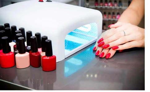 Chroma Nails gel manicure with LED lights in Mine Hill NJ