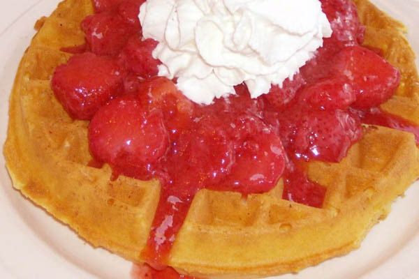 Photo of Chuck's Place Restaurant strawberry waffles near West Bend, WI