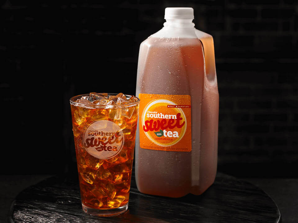 Church's Sweet and Unsweetened Tea available