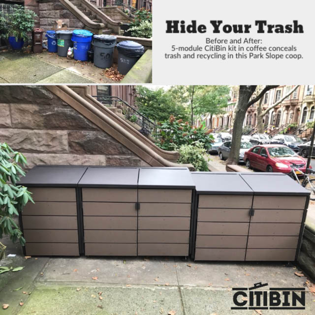 Organize your trash cans near Crown Heights, NY