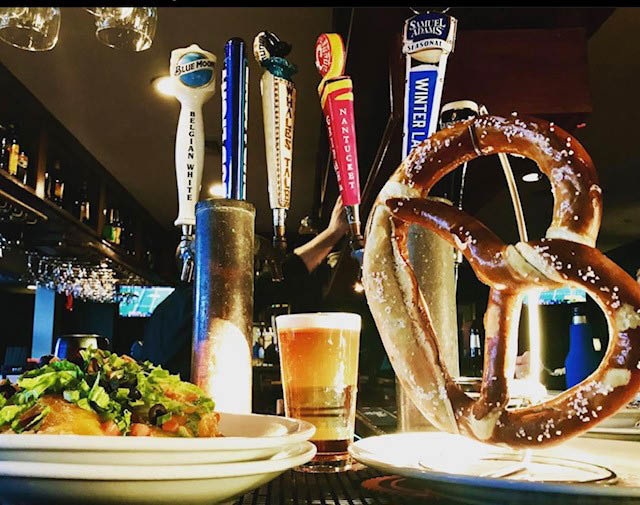 Nothing goes better than a giant pretzel & a beer or beverage of your choice before dinner