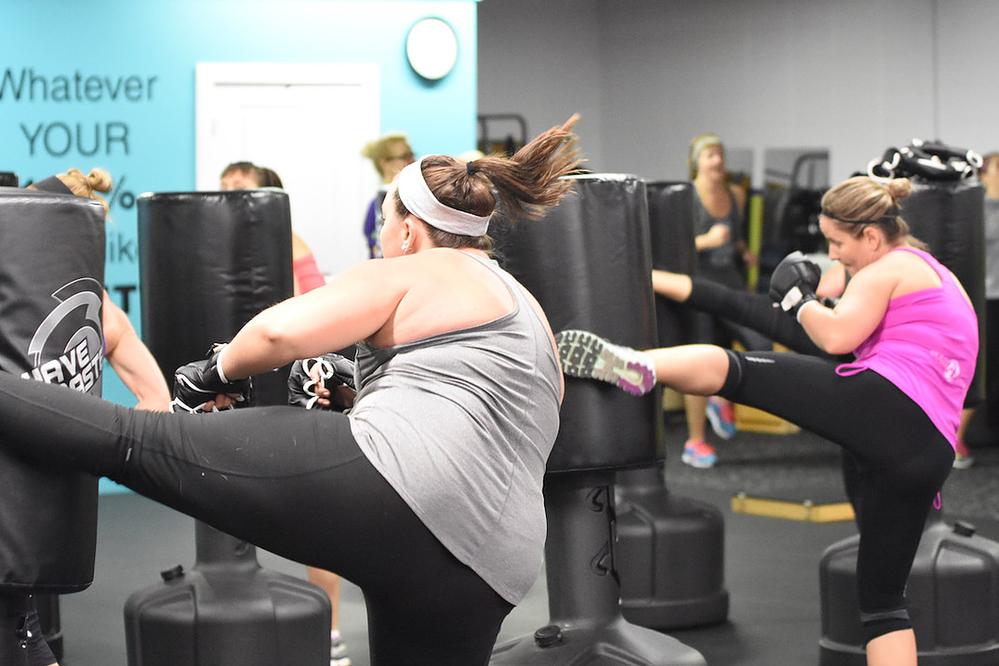 Class A Fitness kickboxing class near Franklin, WI