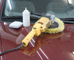buffing tools at Classic Express Car Wash & Lube in Arlington, TX