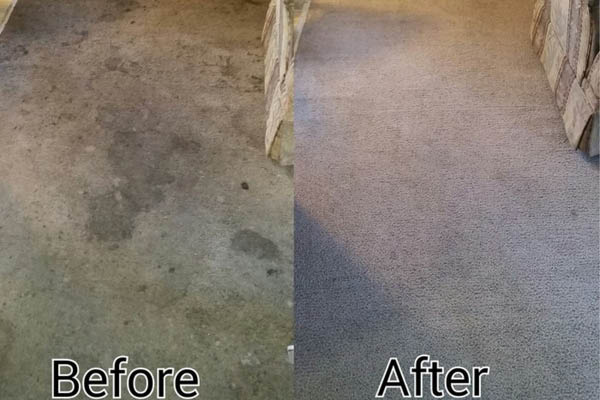 Coit Cleaning before and after.