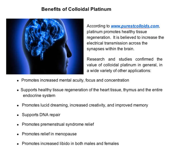 Benefits of colloidal platinum and hydrogen therapy