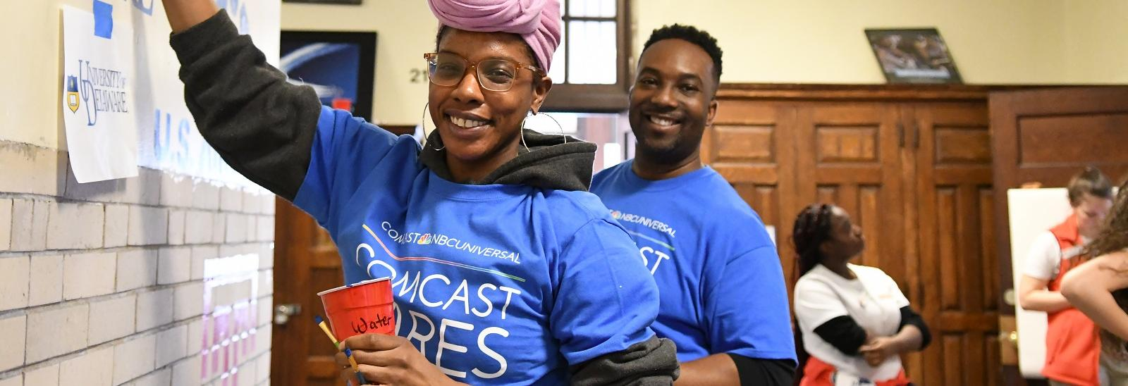 Volunteers at Comcast Cares Day 2018.