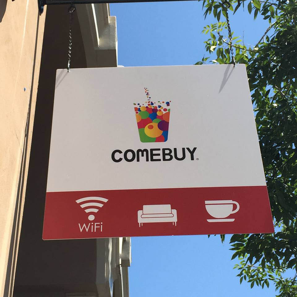 comebuy drinks, coffee, teas, boba, bubble tea