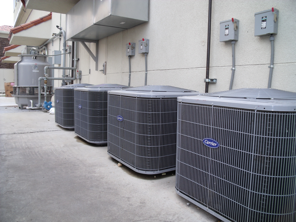 Installation of multiple heating and air systems in commercial buildings