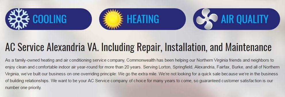 Commonwealth HVAC Complete AC service, ac sales, ac installation