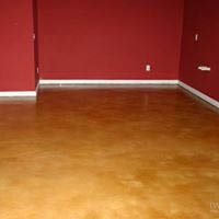 Interior flooring with concrete design