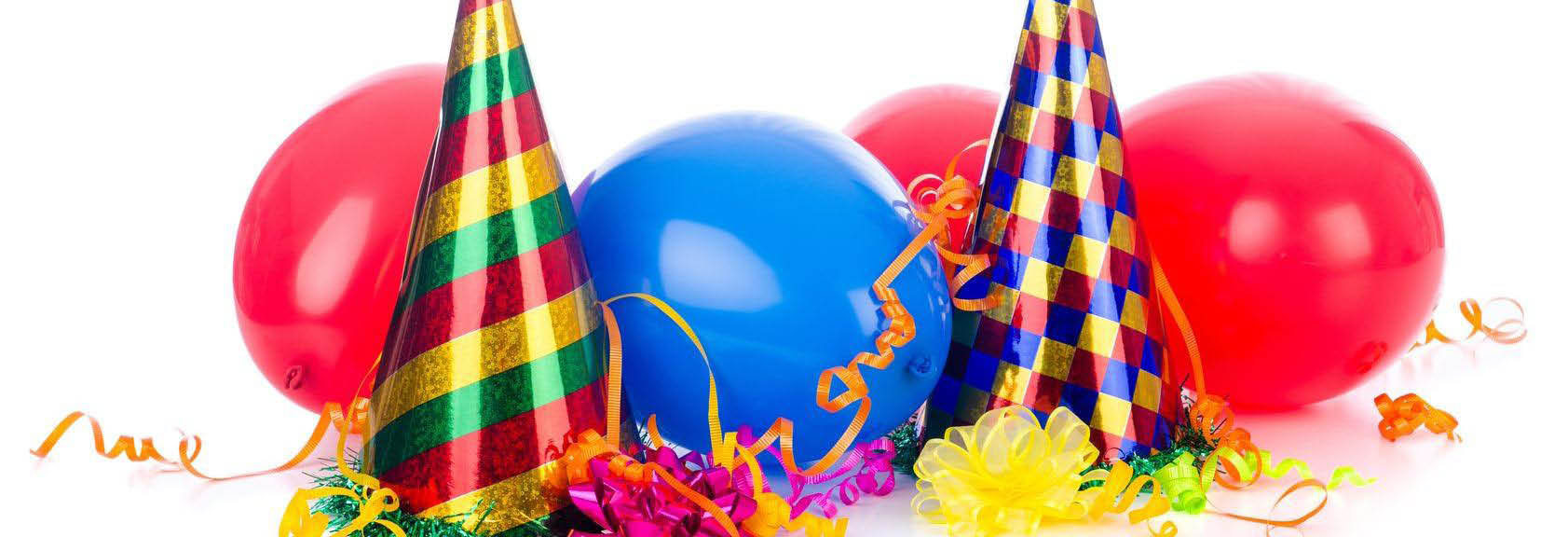 balloons,party supplies,invitations,table rentals,chair rentals,holiday decorations