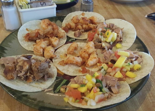 A fine assortment of Mexican recipe dishes from Casuelas Café