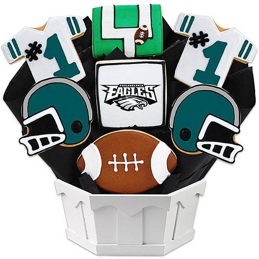 cookies by design,football,eagles football,bouquet,designs,candy designs,