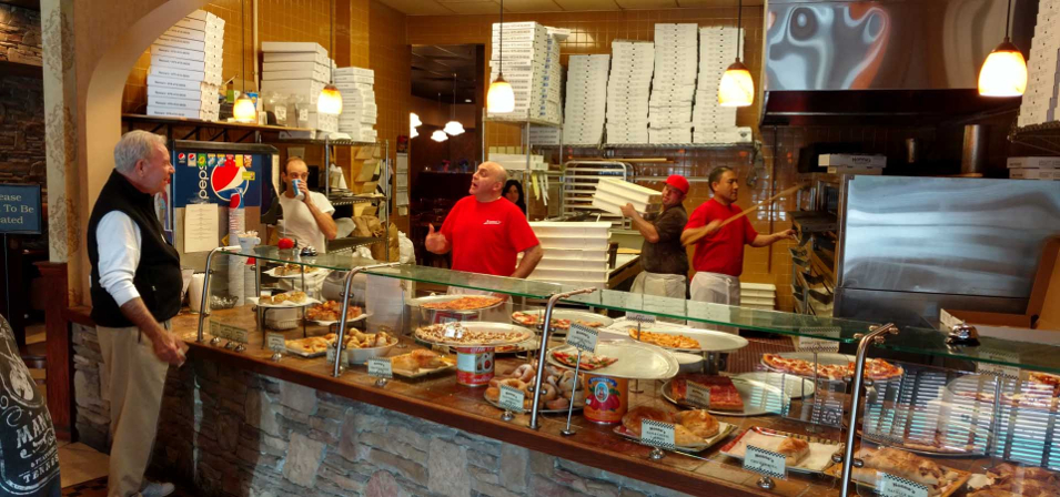 Counter at Nonna's Pizza and Restaurant in Florham Park, NJ