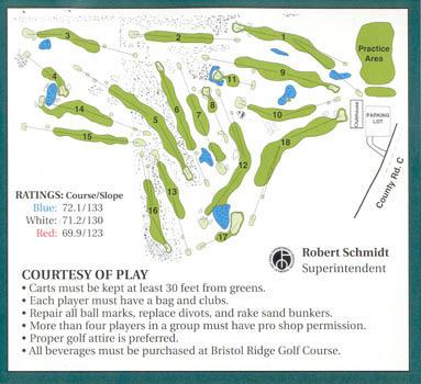 Bristol Ridge Golf Course Layout in Somerset, WI