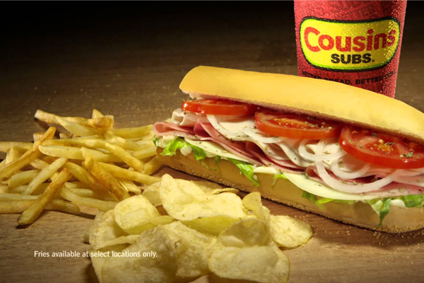 Cousins Subs fries or chips franchise in Wisconsin