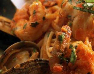 italian seafood dishes; Cafe Roma located in Gaithersburg, MD