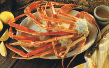 Snow crab legs and corn on the cob