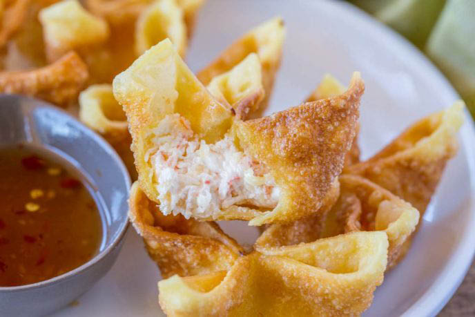 Crab rangoon, fried won-tons, appetizers