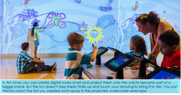 Bring digital art to life with the Crayola Experience Art Alive attraction Easton PA