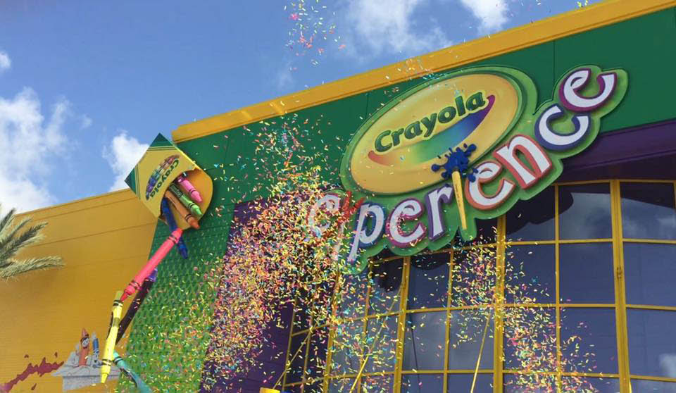 The Crayola Experience will be open year round.  Specializing in colorful birthday parties, group outings, educational field trips and special events.