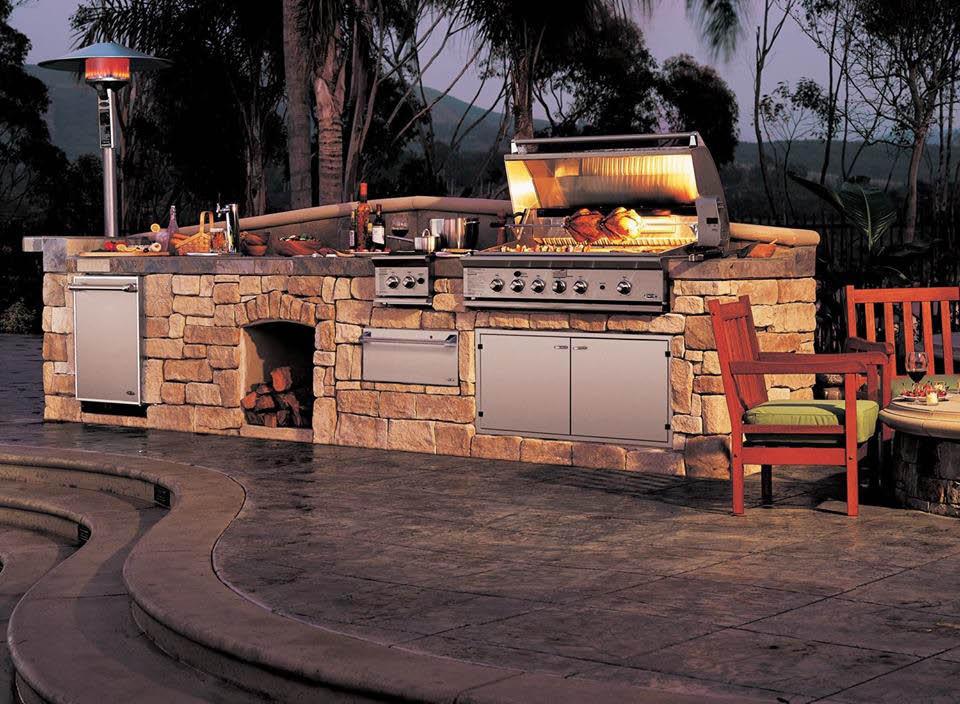 Outdoor grill stone near Omaha