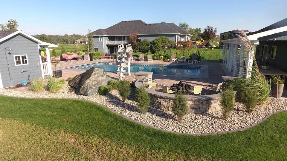Swimming pool and natural divider near Brainard