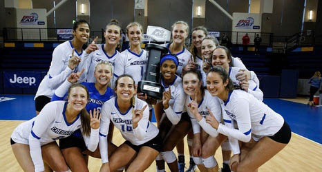 Creighton University Winning Women's Volleyball Team
