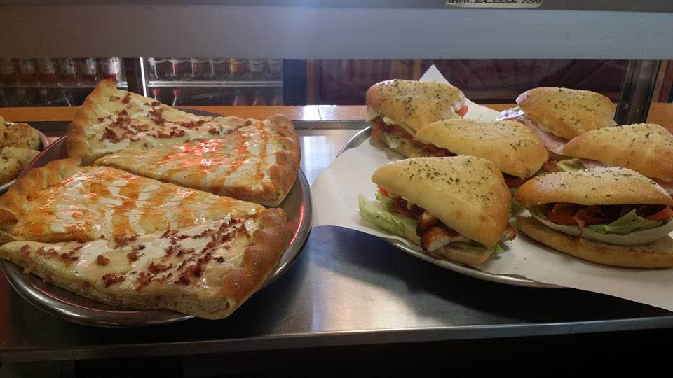 fresh pizza and hot sandwiches
