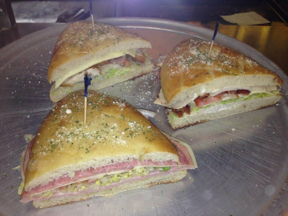 Italian cold cut sandwiches