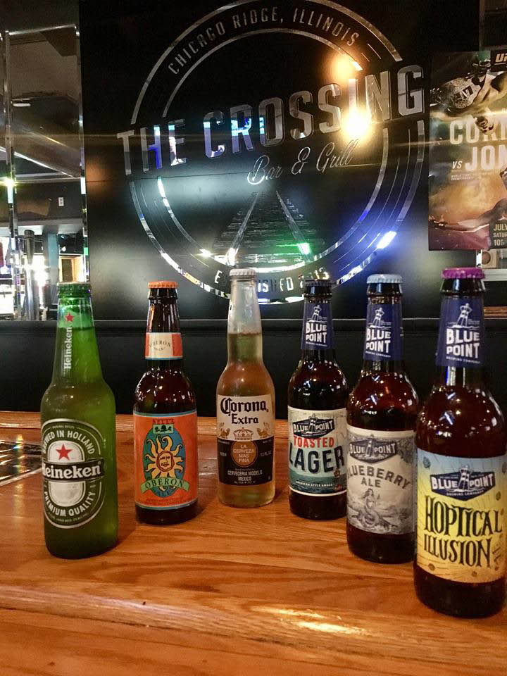 Local craft beers featured at The Crossing Bar & Grill