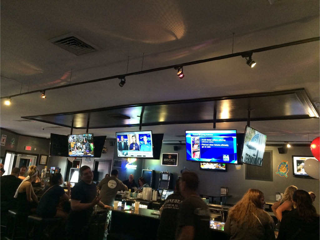 Watch all your favorite sports events at The Crossing Bar.