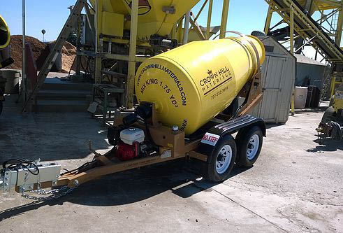 Cement truck available for landscaping projects
