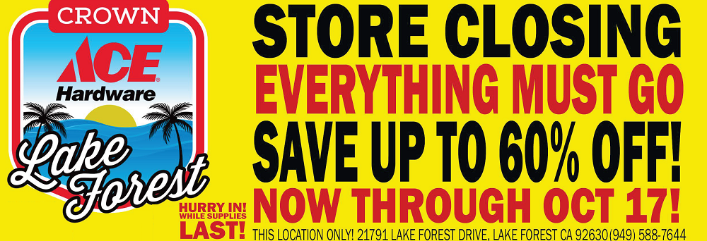 crown ace hardware lake forest closing hardware coupons near me