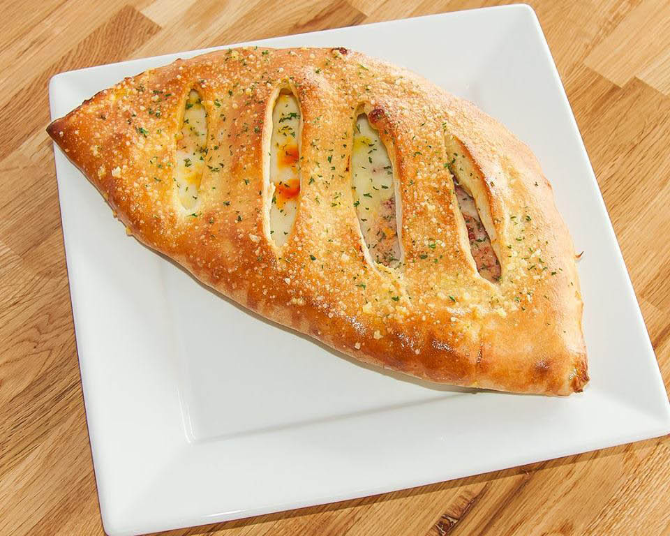 Awesome calzones at Crust Restaurant.