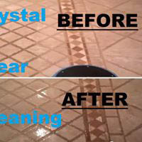 Before and after upholstery cleaning by Crystal Clear Cleaning Crystal Clear tile and grout floor cleaning before and after