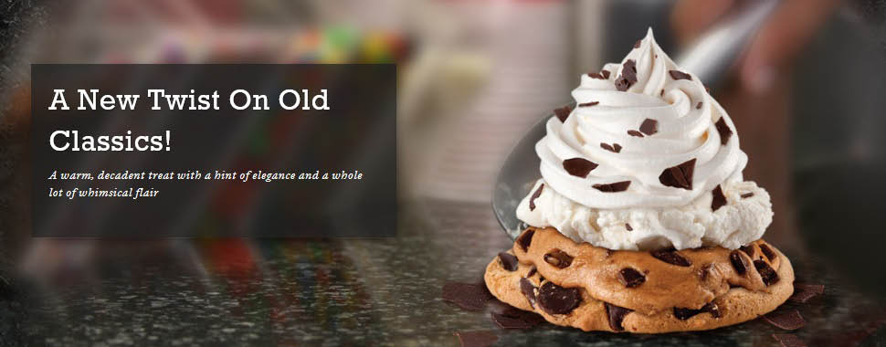 COLD STONE CREAMERY HOT STONE ICE CREAM COOKIES AND MORE