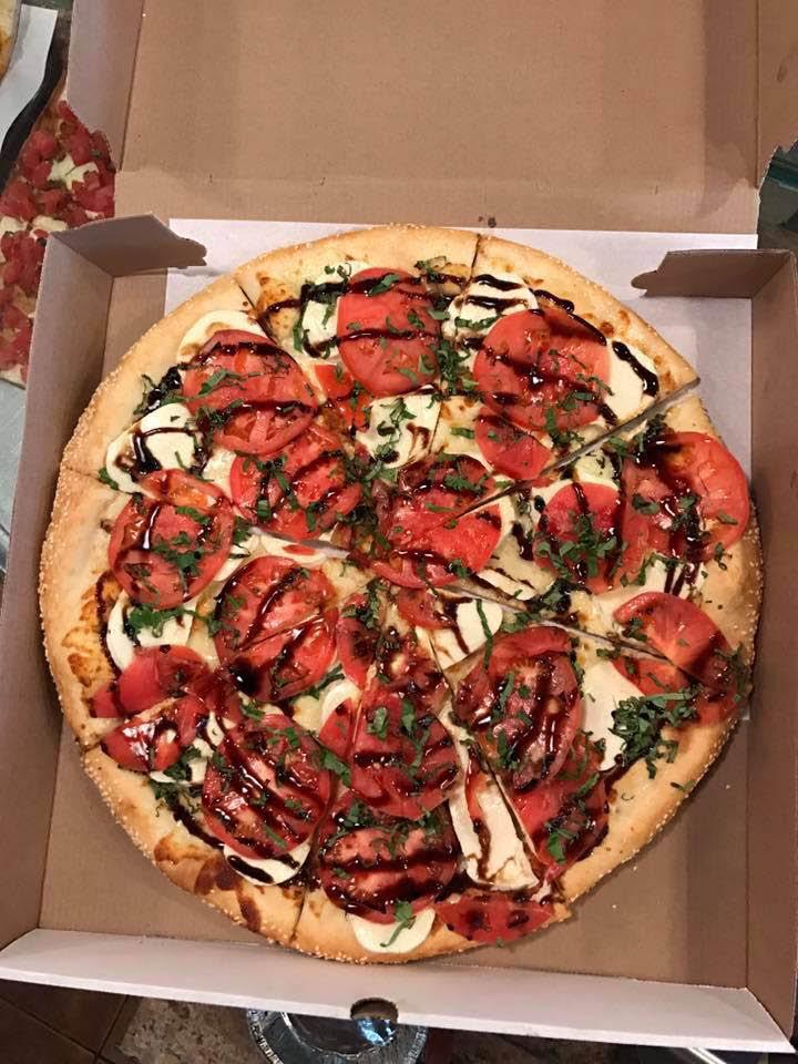 pizza at Italian restauran