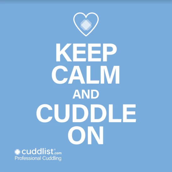 Keep Calm and Cuddle On sign