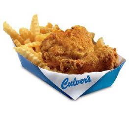 Culver's Restaurant frsh fried chicken value basket.