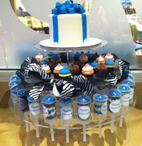 Beautiful arrangement of gourmet cupcakes at Eldridge, TX Small Cakes